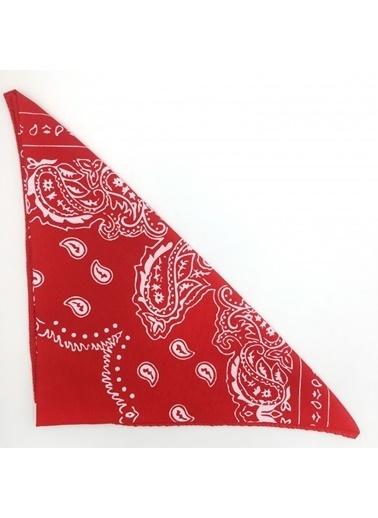 Happy Accessories Happy Accessories Şal Desenli Kadın Fular Bandana Kırmızı